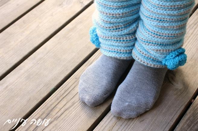 עושה עיניים - הוראות לסריגת חותלות    Osa Einaim - Crochet leg warmers pattern