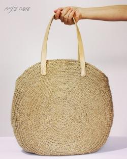 עושה עיניים - הוראות לסריגת תיק עגול מחבל יוטה || Osa Einaim - Round jute bag crochet pattern