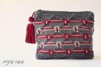 עושה עיניים - ארנק בדוגמת אוברליי מעויינים || Osa Einaim - Crochet overlay purse