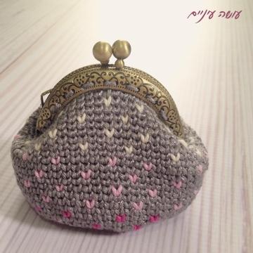 עושה עיניים - ארנק פרפרים סרוג || Osa Einaim - crochet tapestry purse