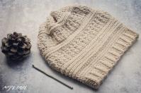 עושה עיניים - כובע סרוג במסרגה אחת || OsaEinaim - Crochet slouch beanie