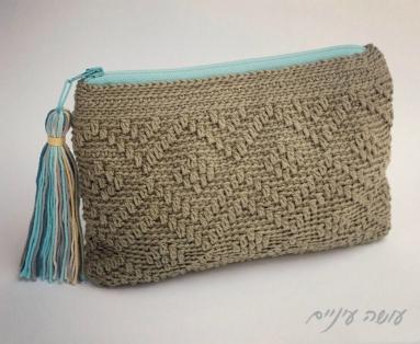 עושה עיניים - פספסים - ארנקים בטקסטורות - מעויינים || Osa Einaim - Passpasim - Crochet textured purses pattern