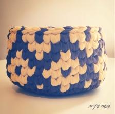 עושה עיניים - סלסלת טפסטרי מחוטי טריקו || OsaEinaim - T-shirt yarn tapestry basket