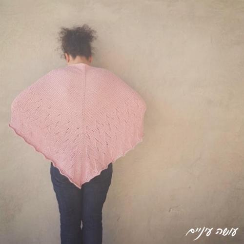 Osa Einaim - Spring Etude Shawl, Tunisian crochet || עושה עיניים - שאל בסריגה טוניסאית