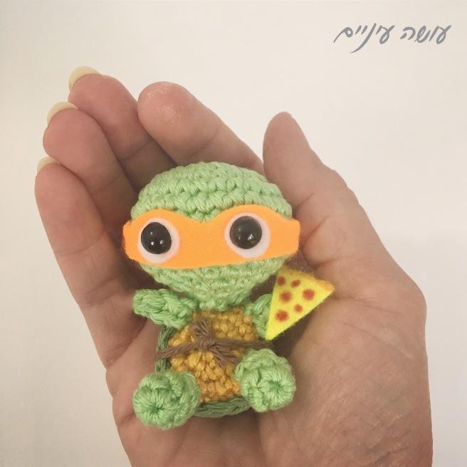 עושה עיניים - צב נינג'ה סרוג || Osa Einaim - Crochet Ninja turtle